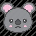 australia, avatar, cute, face, koala, sad
