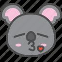 australia, avatar, cute, face, kiss, koala icon