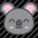 australia, avatar, cute, face, koala, smile icon