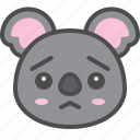 australia, avatar, cute, face, koala, worried
