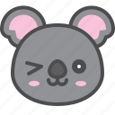 australia, avatar, cute, face, koala icon