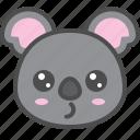australia, avatar, cute, face, koala icon