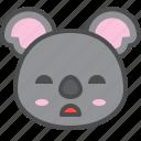 australia, avatar, bored, cute, face, koala icon