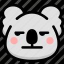 annoying, emoji, emotion, expression, face, feeling, koala
