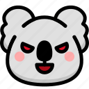 emoji, emotion, evil, expression, face, feeling, koala icon
