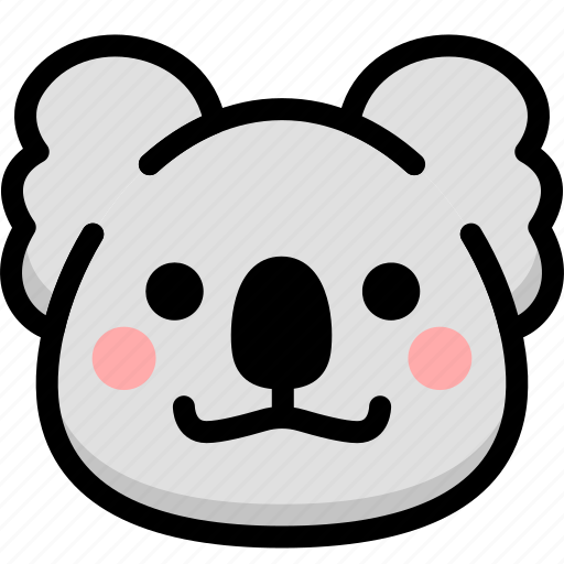 emoji, emotion, expression, face, feeling, grinning, koala icon