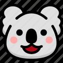 emoji, emotion, expression, face, feeling, happy, koala