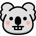 emoji, emotion, expression, face, feeling, koala, nerd