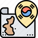 korea, map, country, location, guidance