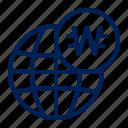 korea, won, currency, global, world, globe, usage