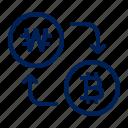 korea, won, currency, bitcoin, crypto, cryptocurrency, exchange