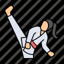 taekwondo, martial, combat, sports, exercise, karate