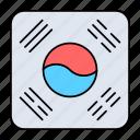 korea, flag, nation, asia, country