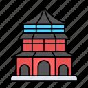pagoda, temple, religious, oriental, architecture
