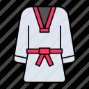korean, traditional, male, dress, dobok, uniform