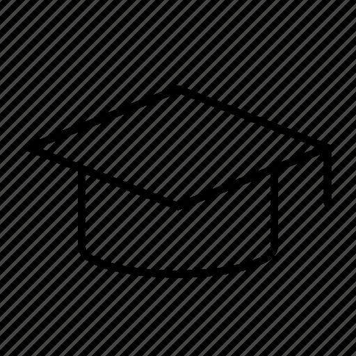 alumni, board, graduate, mortar, study icon