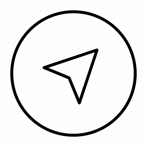 arrow, geo, location, map, navigation icon
