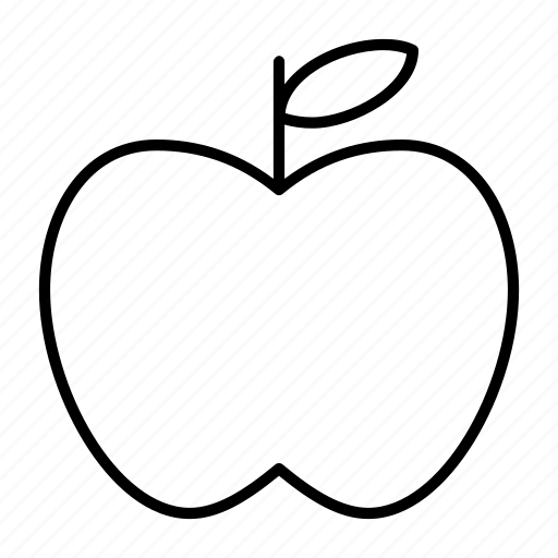 apple, bite, food, fresh, fruit icon