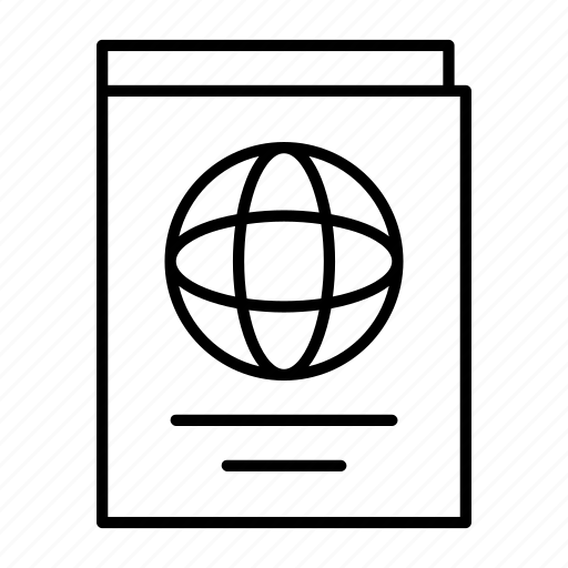 identity, passanger, passport, port, stamp icon