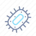 bacteria, laboratory, science, virus icon