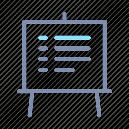 board, office, presentation, slide, whiteboard icon