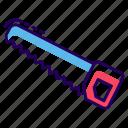 carpenter tool, hacksaw, hand saw, saw blade, saw tool, wood saw icon