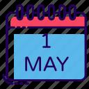 agenda, calendar, date, event calendar, labour day, schedule, timetable icon