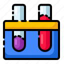 chemistry, formula, laboratory, reaction, tube icon