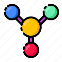 laboratory, chemistry, molecule, atom icon