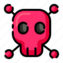 danger, dangerous, laboratory, skull, warning icon