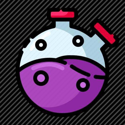 chemistry, distilation, evaporation, labortory, reaction icon