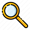 analys, laboratory, magnify, search, zoom icon