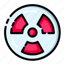 danger, dangerous, laboratory, radioactive, warning icon