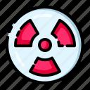 danger, dangerous, laboratory, radioactive, warning icon