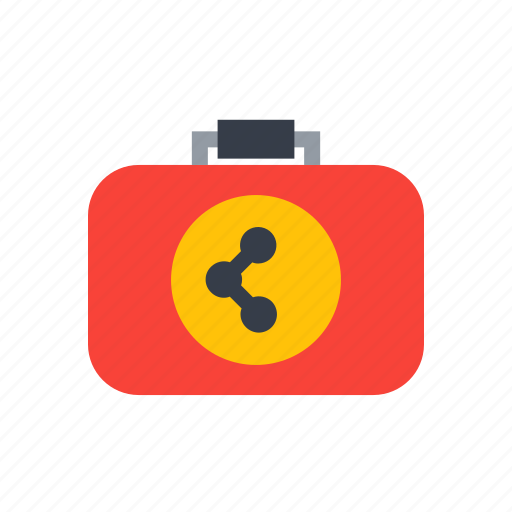 biology, education, laboratory, research, science, suitcase icon