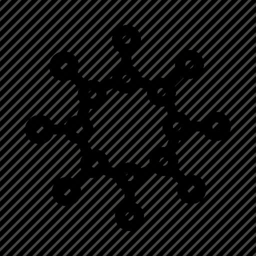 atom, biology, education, laboratory, molecule, research, science icon