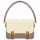 handbag, ladies bag, ladies purse, saddle bag, shoulder bag icon
