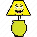 bulb, emoji, face, lamp, light, lights, smiley icon