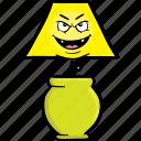bulb, emoji, face, lamp, light, lights, smiley icon