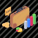 business bag, business portfolio, briefcase, business analytics, statistics