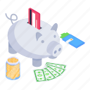 piggy, savings, funds, piggy bank, cash