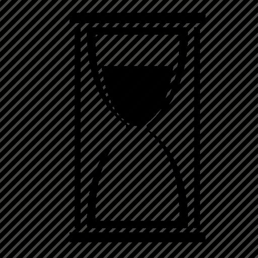 glass, hope, hopefulness, hourglass, waiting icon