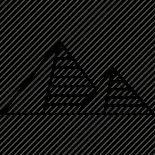 ancient, desert, egypt, giza, landmark, pyramid, traditional culture icon