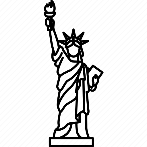 america, landmark, liberty, monument, statue, united state, usa icon
