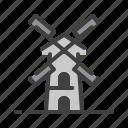 amsterdam, landmark, monument, travel, vacation, windmill icon