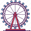 london, park, amusement, ferris wheel, eye