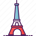 eiffel, france, landmark, paris, tower icon