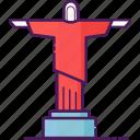 brazil, christ the redeemer, landmark, rio de janeiro, sculpture, statue icon