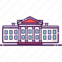 architecture, government, landmark, united state, white house icon