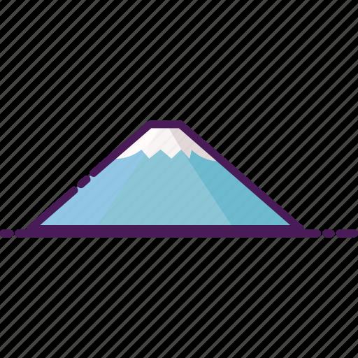 fuji, japan, landmark, mount fuji, mountain icon